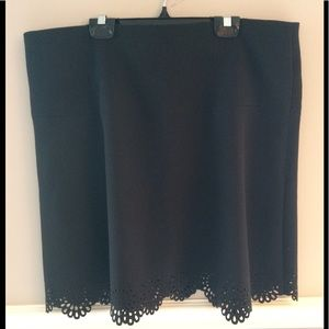 Loft Black classic A-Line Skirt. Size 14. EUC💐💐